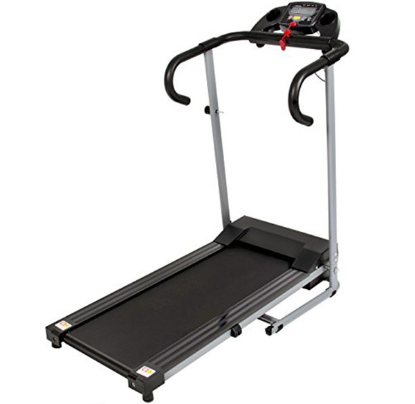 Black 500W Portable Folding Electric Motorized Treadmill Running Machine featured