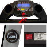 Black 500W Portable Folding Electric Motorized Treadmill Running Machine console